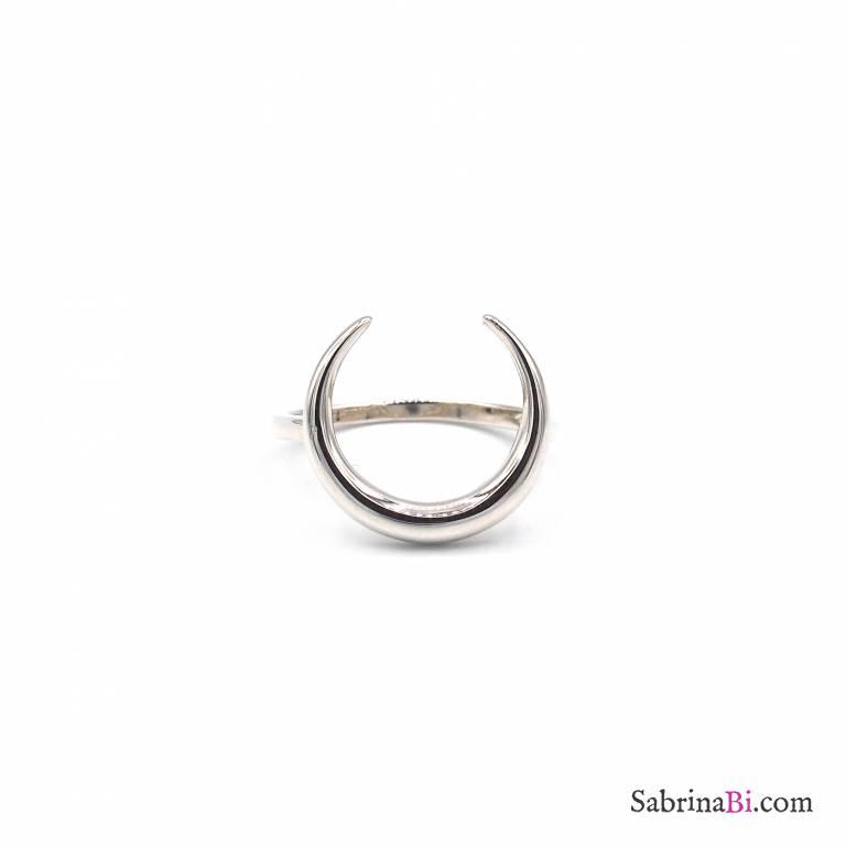 Anello argento 925 Luna Crescente