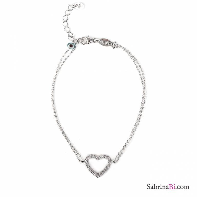braccialetto argento ragazza