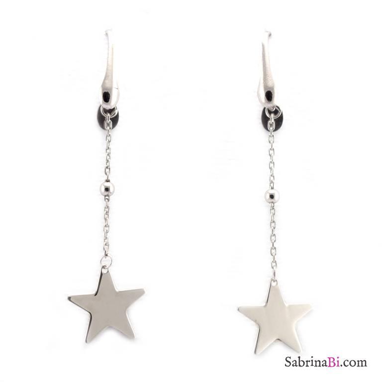 Orecchini pendenti argento 925 stella