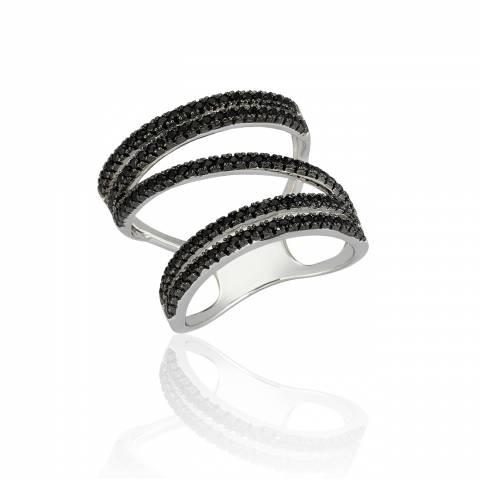 Anello Still Jane argento 925 brillanti neri