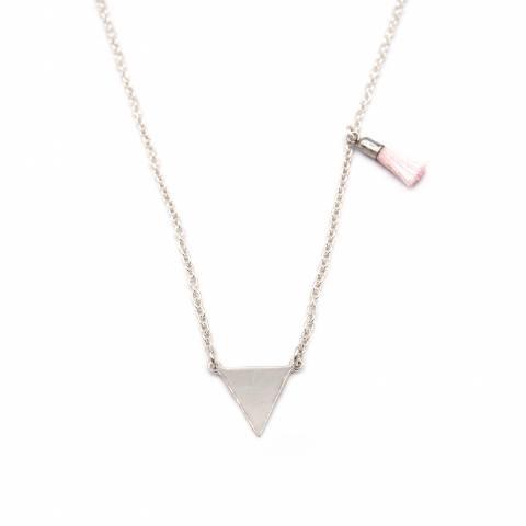 Collana argento 925 triangolo e nappina