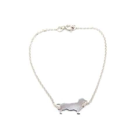 Bracciale argento 925 Cane Bassotto